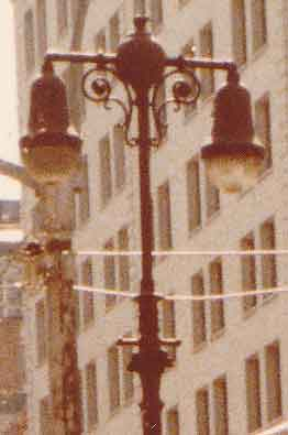 Old Cast Iron Twin Lamps 5th Avenue Midtown Image 0