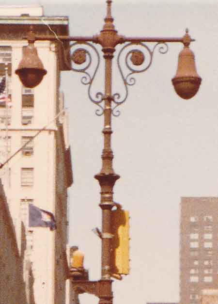 Old Cast Iron Twin Lamps 5th Avenue Midtown Image 2